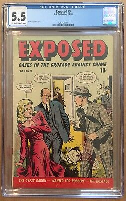 EXPOSED #9 CGC 5.5 Good-Girl Cover 1949