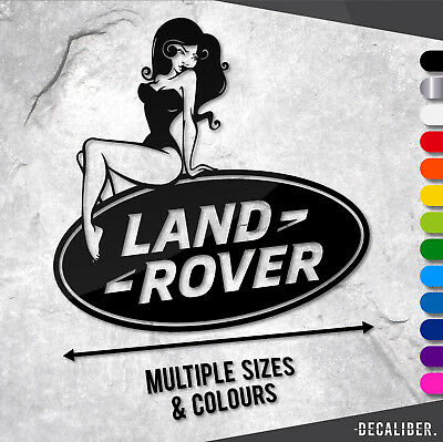 Land Rover Sexy Pin Up Girl Funny Sticker / Decal - Defender Discovery TD5 Range
