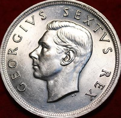 1952 South Africa 5 Shillings Silver Foreign Coin