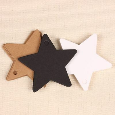Gift Wrap Tags DIY Star Kraft Paper Labels Wedding Party Gift Card Price Tags 50