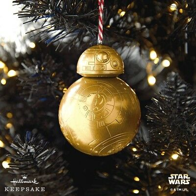 2018 Star Wars GOLD Mystery BB-8 Box Hallmark Ornament NIB GOLD VERSION