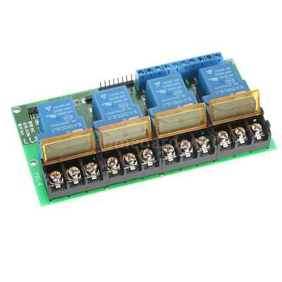 Mini 4-Channel DC 12V 30A Relay Module Control Board High/Low Trigger Tool D9H4