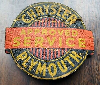 RARE 50s JACK EVANS DAYTON OHIO OH CHRYSLER PLYMOUTH APPROVED SERVICE PATCH WOW