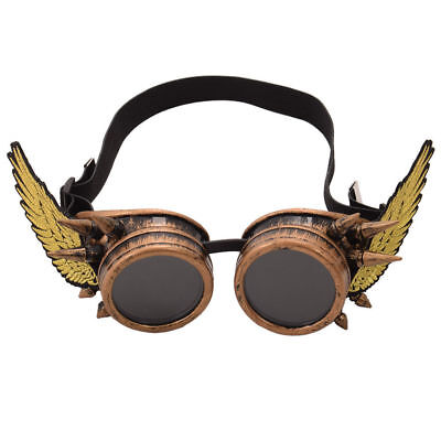 Vintage Steampunk Victorian Goggles Glasses with Wing Punk Cosplay PropsUnisex