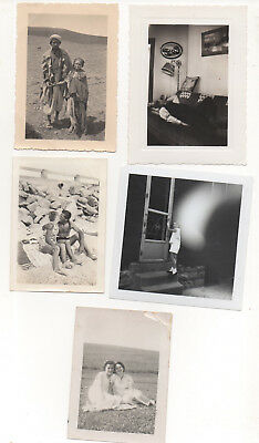 Lot of (13) 1920s-90s candid snapsnot found photos - good subjects