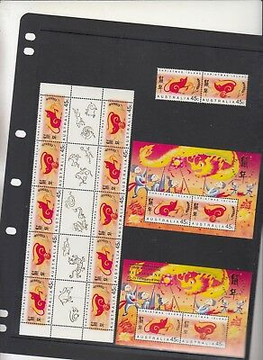 CHRISTMAS ISLAND 1996 Year of the Rat. MUH. All issues & O/P.