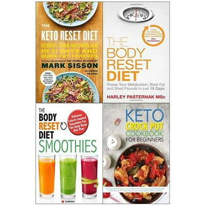 Keto Crock Pot Cookbook For Beginners Reset Diet 4 Books Collection Set NEW UK