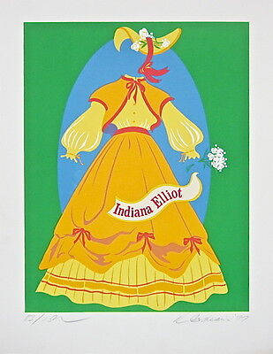 Indiana Elliot (The Mother of Us All) Limited Edition Lithograph Robert Indiana