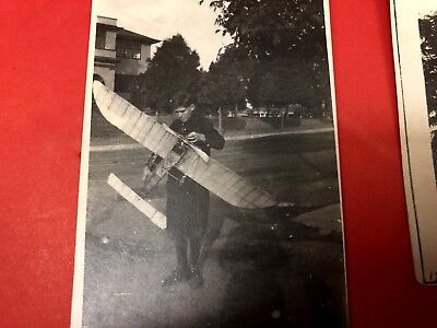 Lot of 3 Antique c.1912 Model Airplanes Early Aviation  - Photographs