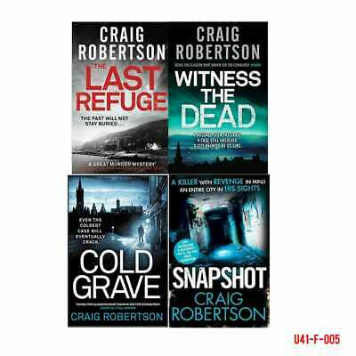 Craig Robertson Collection Cold Grave Snapshot 4 Books Gift Wrapped Box Set New