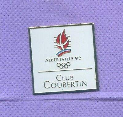 Rare Pins Jeux Olympiques Albertville 1992 Coubertin R481
