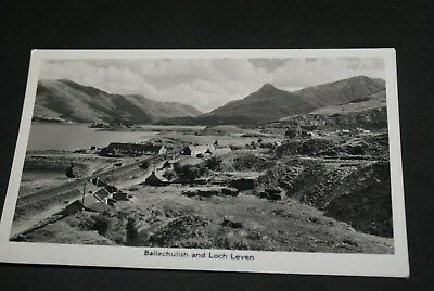 B/w Postcard Ballachulish And Loch Leven Unposted.
