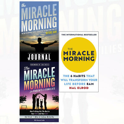 Hal Elrod Collection Miracle Morning for Parents and Families 3 Books Set NEW