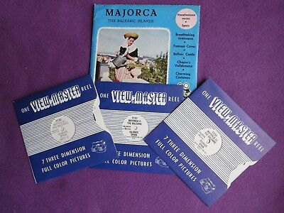 VINTAGE SAWYERS 3D VIEWMASTER REELS x 3:  MAJORCA  SPAIN No 1730 SERIES