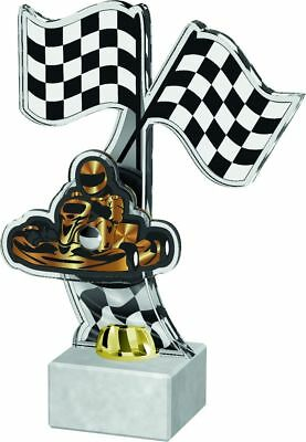 GO KART RACING TROPHY QUALITY PRINTED ACRYLIC *FREE ENGRAVING & GIFT BOX* 235mm