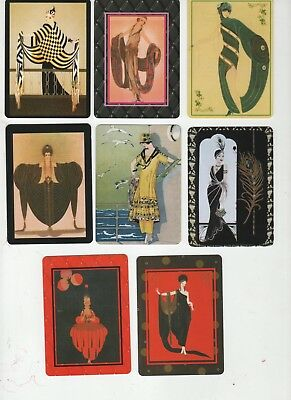 SPECIAL OFFER - ART DECO STYLE  LADIES  (8)  swap/playing cards