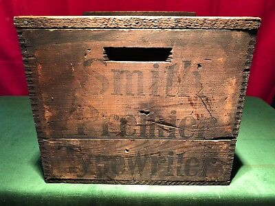 Rare Antique Smith Premier Typewriter Shipping Box Crate