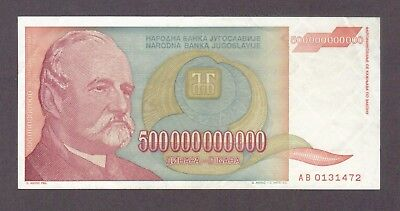 1993 500 Billion Dinara Yugoslavia Currency Banknote Note Money Bank Bill Cash