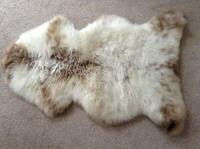 Genuine Sheepskin Rug - Oyster And Tan (Large)
