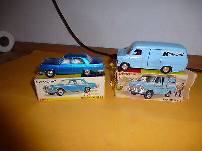 Dinky Toys - 160 Mercedes-Benz 250 S.e Stopplicht - 407 Ford Transit Van In Ok's