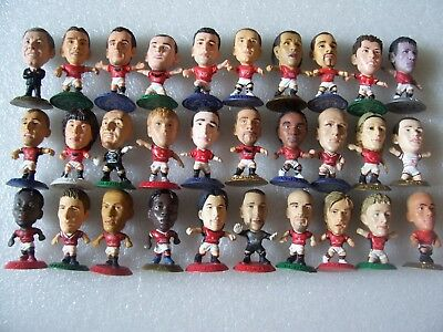 Lot Of 30 Man Utd Microstars Inc Ferguson,ronaldo,rooney