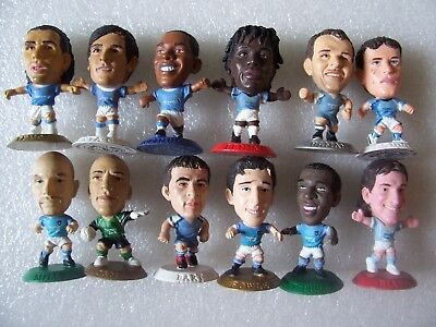 Lot Of 12 Man City Microstars Inc Tevez,santa Cruz