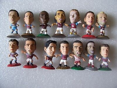 Lot Of 14 West Ham Microstars Inc Tevez,parker,upson