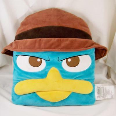 Agent P Plush Pillow Rare Disney Store Perry Platypus Phineas & Ferb Figural EXC