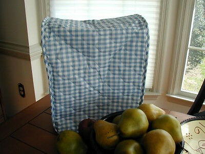 Blue Gingham Mixer / Coffeemaker Etc Appliance Cover, quilted fabric