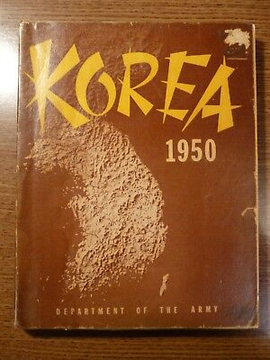 Official US Department of the Army Military History Book: Korea 1950