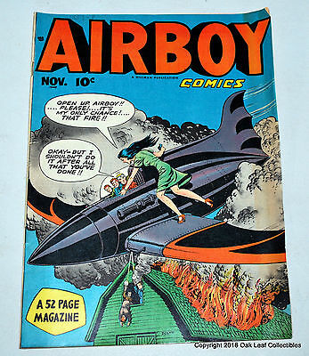 Airboy V5 #10 Hillman Comic Book 1948 V-VF