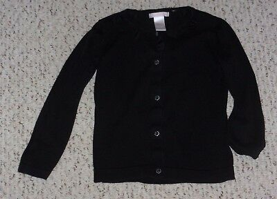 Solid Black Janie and Jack L/S Cardigan Sweater, Holiday Portrait 2010, 4T, VGUC