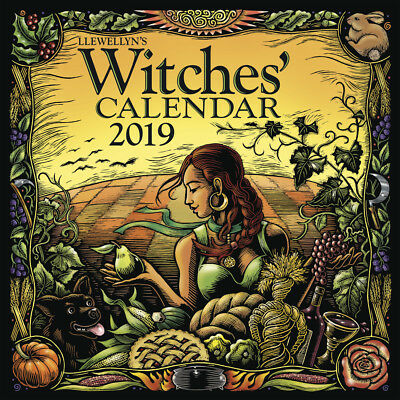 LLEWELLYN 2019 WITCHES CALENDAR Witch Craft Wicca Wiccan Pagan Calender
