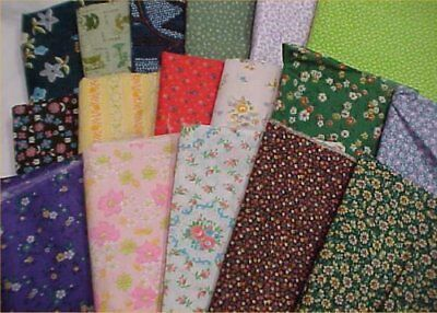 Mix Lot Vintage Cotton Quilt Fabric Calico Floral  Quilters Material Sew Estate