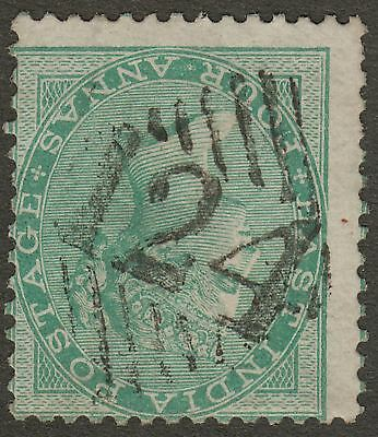 India used Aden 1865 QV 4a Green Used 124 Aden Postmark SG Z31 cat £85