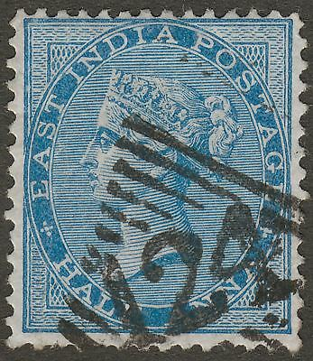India used Aden 1866 QV ½a Blue Die II Used with 124 Aden Postmark SG Z36