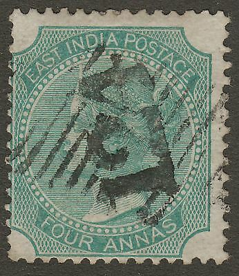 India used Aden 1866 QV 4a Green Used 124 Aden Postmark SG Z37 cat £18