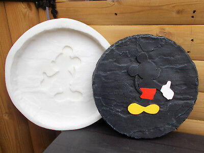 Mickey Mouse Garden Stepping Stone Cement EasyTo Use Quality Silicone Mold