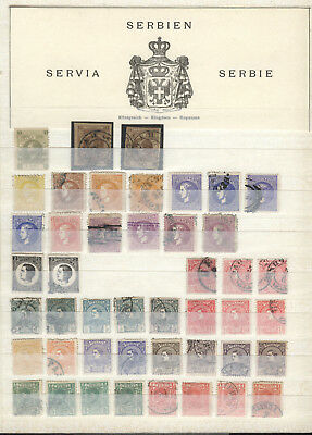 SERBIEN - SERBIE - SERVIA interesting old collection on 8 pages