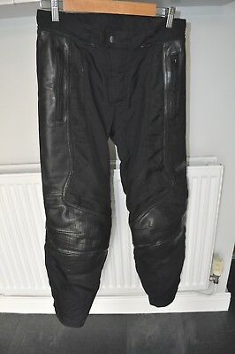 """Hein Gericke Textile And Leather Motorcycle Trousers Size Uk 28 30"""" Motorbike"""