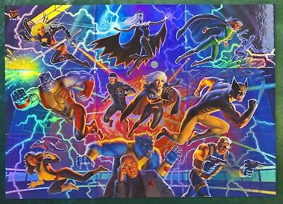 2018 Fleer Ultra X-Men COMPLETE 9 Card Connected Image 3x3 Insert Set