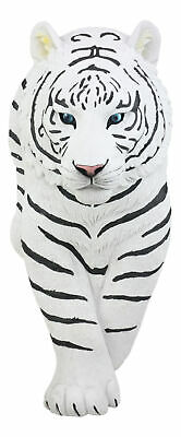 "Jungle Wildlife White Tiger Wall Decor Art 18""H Siberian Tiger Silent Prowler"