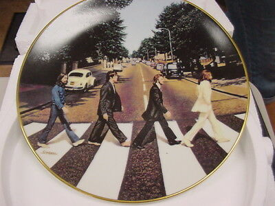 The Beatles*apple*delphi*abbey Road*brand New In Box*collector's Plate*w/coa