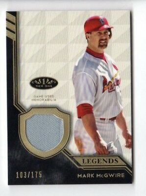 MARK McGWIRE MLB 2018 TOPPS TIER ONE LEGEND RELIC #/175 (CARDINALS,ATHLETICS)