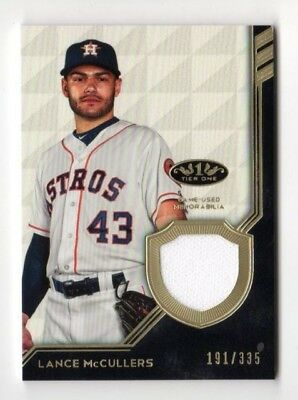 LANCE McCULLERS MLB 2018 TOPPS TIER ONE LEGEND RELICS (HOUSTON ASTROS) #/335