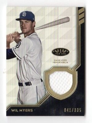 Wil Myers Mlb 2018 Topps Tier One Legend Relics (San Diego Padres) #/335