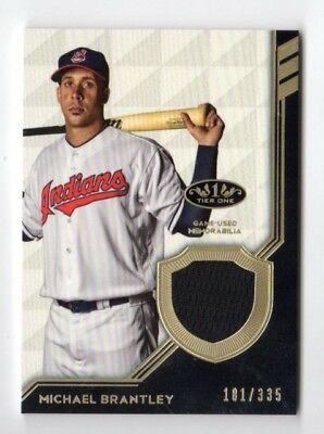 Michael Brantley Mlb 2018 Topps Tier One Legend Relics (Cleveland Indians) #/335