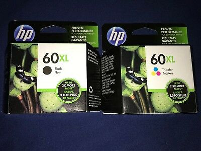 Genuine HP 60XL Black/Tri-Color Ink Cartridge Combo Free Shipping!