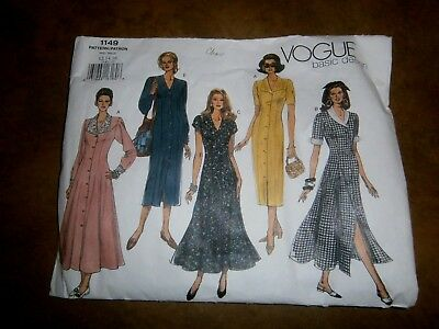 Vogue Basic Design 1149 Pattern Sizes 12-14-16 Uncut Dresses
