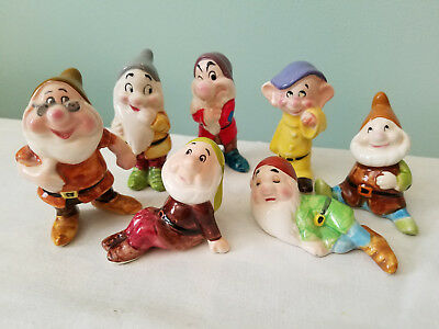 Disney 7 Dwarves Ceramic Figures Walt Disney World 1979 Approx. 2 3/4""